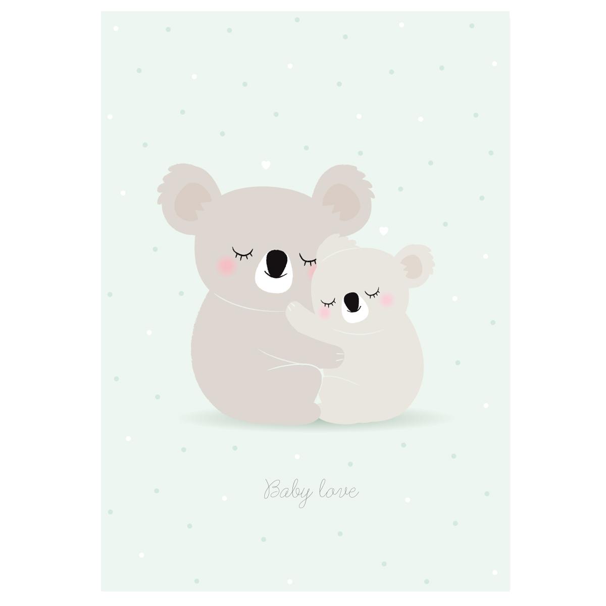Affiche baby love koalas zü boutique